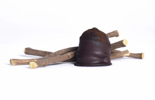 Lakridsskum med lakridspulver